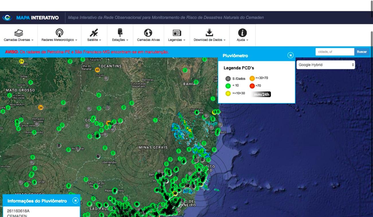 administração rural monitoramento climático com cemaden