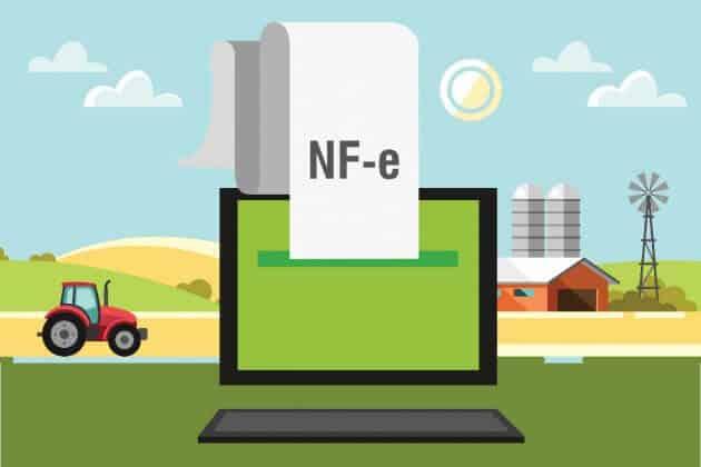 Ilustração que representa a nota fiscal eletrônica de produtor rural