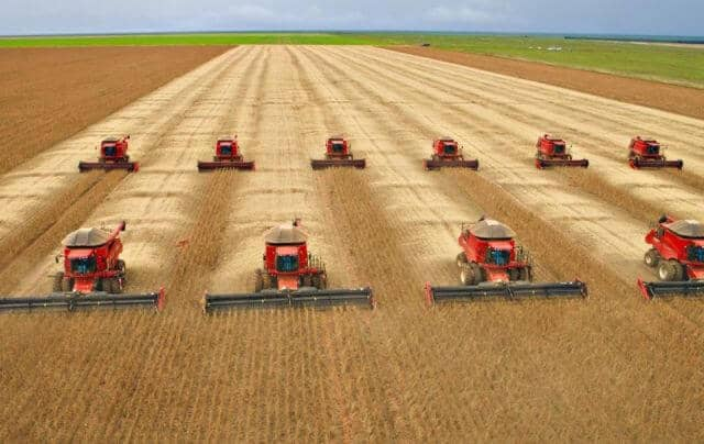 Colheita da soja no Mato Grosso