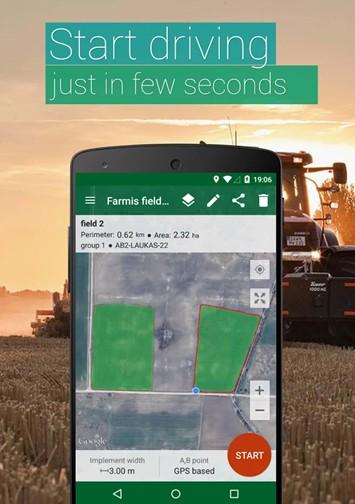 aplicativo para demarcação das zonas em campo