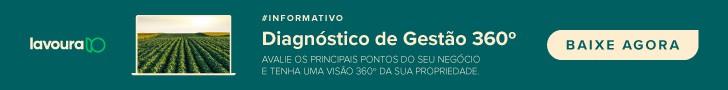 banner que convida o leitor para baixar um informativo, de diagnóstico de gestão 360º da propriedade rural