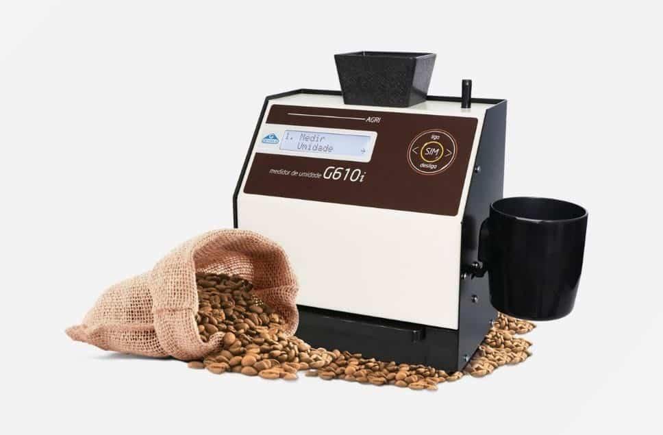 Medidor de umidade portátil para grãos de café